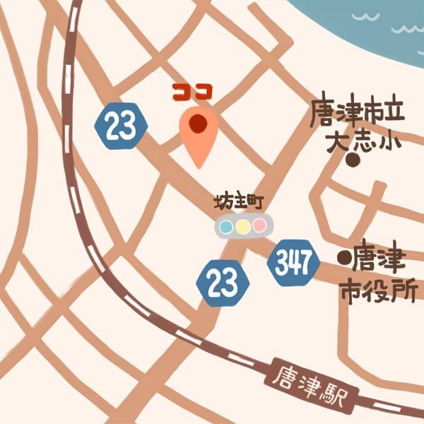 唐津第一病院MAP
